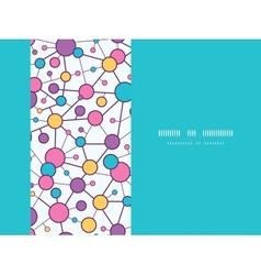 Molecular Structure Horizontal Seamless Pattern vector image