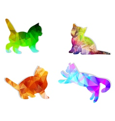 Mosaic cats vector