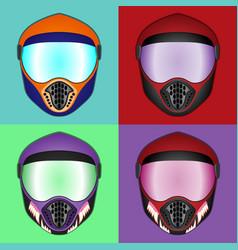 Motorcycle helmet protective helmet vector