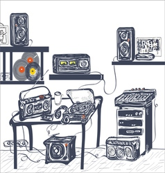 Musical Equipment vector image