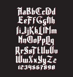 New gothic font vector