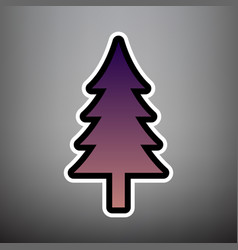 new year tree sign violet gradient icon vector image