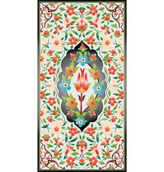 Ottoman art illumination colorful vector