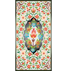 Ottoman art of illumination colorful vector