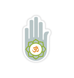 Paper sticker Indian sign on white background vector