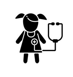 Pediatric department black glyph icon vector