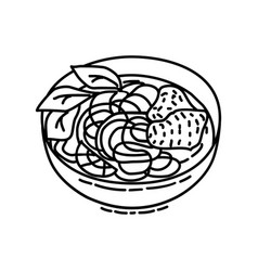 Pho icon doodle hand drawn or outline icon style vector