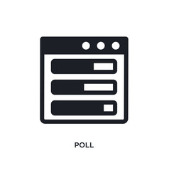 Poll isolated icon simple element from political vector