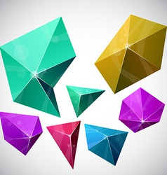 Polygonal vibrant pyramid vector