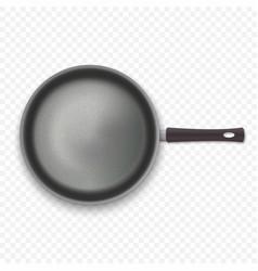 Realistic empty pan vector