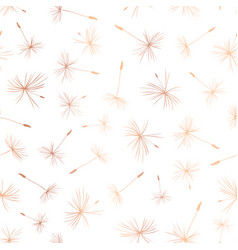 rose gold foil dandelion seeds seamless vector image
