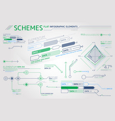 Schemes flat infographic elements vector