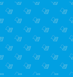 school diary pattern seamless blue vector image