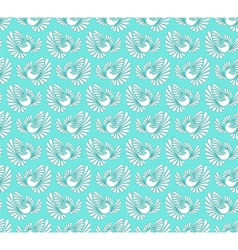 Seamless pattern with doves vector image