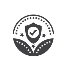 security or protection award icon- protection sign vector image