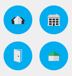 Set of simple property icons elements entry vector