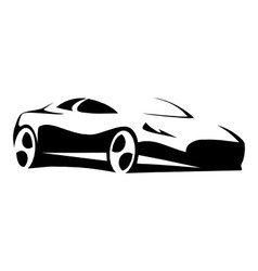 Silhouette sport car black vector image