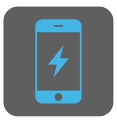 Smartphone Electricity Rounded Square Icon vector