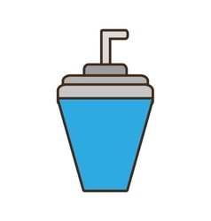 soda drink beverage isolated icon vector image
