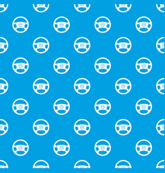 steering wheel of taxi pattern seamless blue vector image