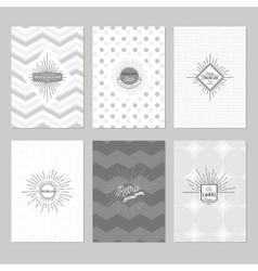 Sunburst Posters Set vector