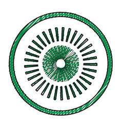 Surveillance eye symbol vector