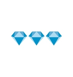 Three diamonds flat icon vector