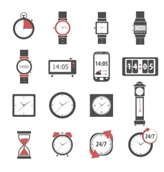Time Icon Black Set vector image