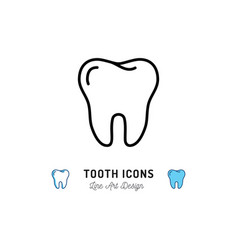 tooth icon teeth sign dental care logo dental vector image