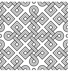 Viking seamless pattern - engraved gold - squares vector