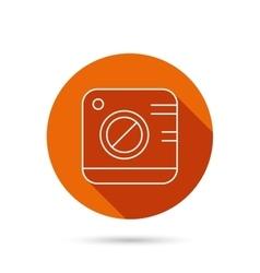Vintage photo camera icon Photography sign vector