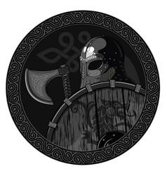 Warrior barbarian viking berserker with axe vector