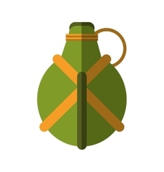Water green canteen equipment camping vector