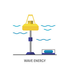 wave energy station icon in flat style vector image
