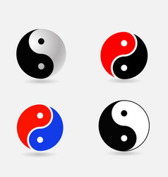 Ying yang symbols set vector