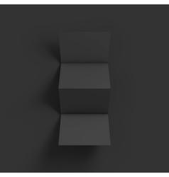 Zigzag four brochure mockup template vector