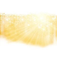golden sparkling christmas theme vector image vector image