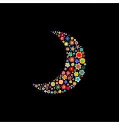 moon shape vector image