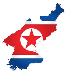 North Korea map vector image vector image