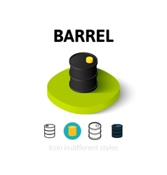 Barrel icon in different style vector