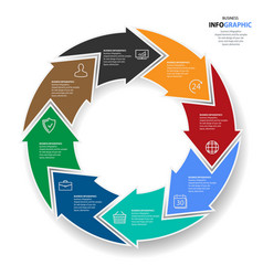 infographics web design marketing icons for vector image vector image