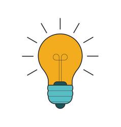 lightbulb flat line icon vector image