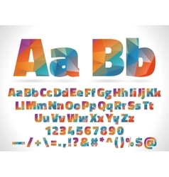 low poly style alphabet letters isolated on white vector image vector image