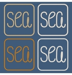Sea nautical ropes design elements vector image vector image