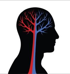Abstract Human Brain vector image vector image