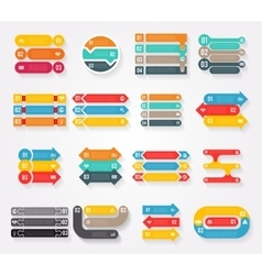 Arrows infographics elements charts and vector