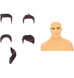 male hairstyles black vector image