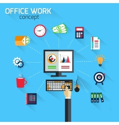 Office work concept vector image vector image