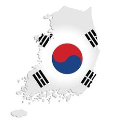 South Korea map vector image vector image