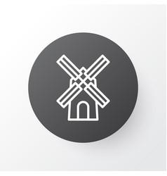 windmill icon symbol premium quality isolated vector image